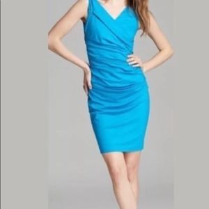 DVF Bentley Sleeveless Ruched Dress: Blue Macaw